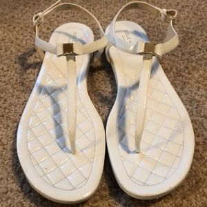 Cole Haan White leather sandals, barely worn